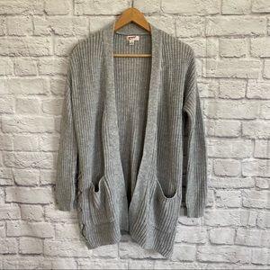 ARIZONA JEANS Grey Open Front Knit Cardigan